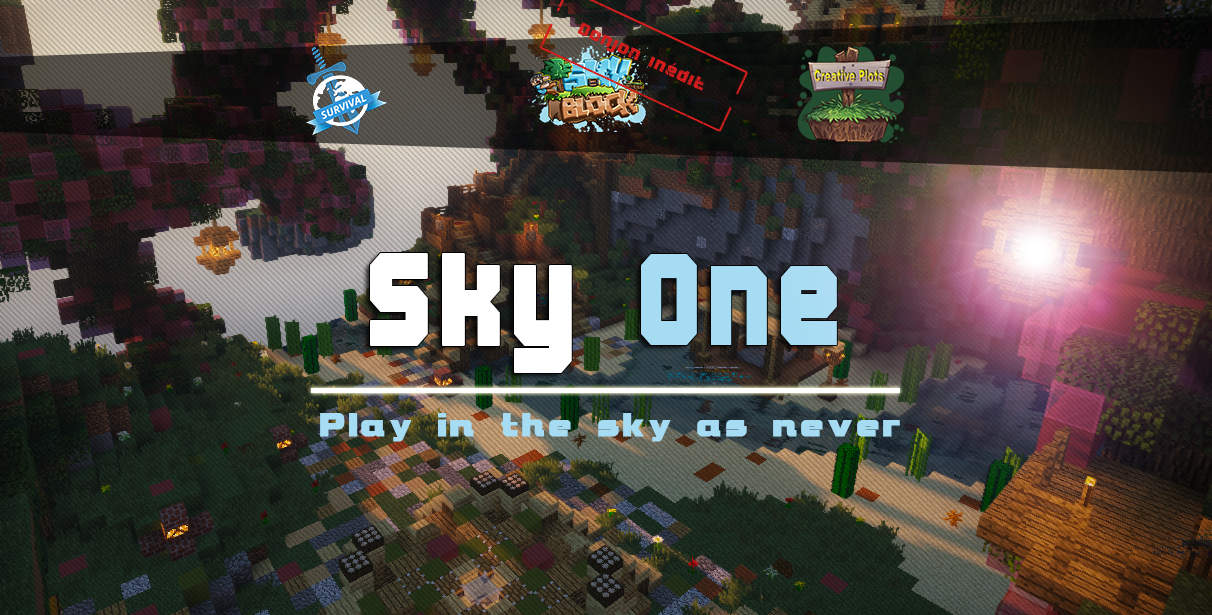 Serveur Minecraft Sky-One